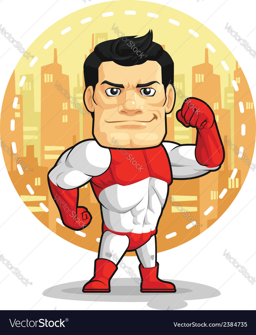 Cartoon of superhero vector