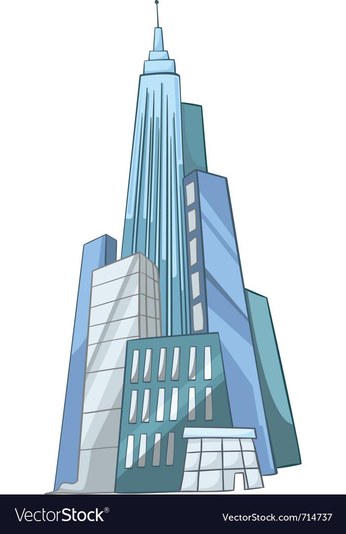 Cartoon skyscraper vector