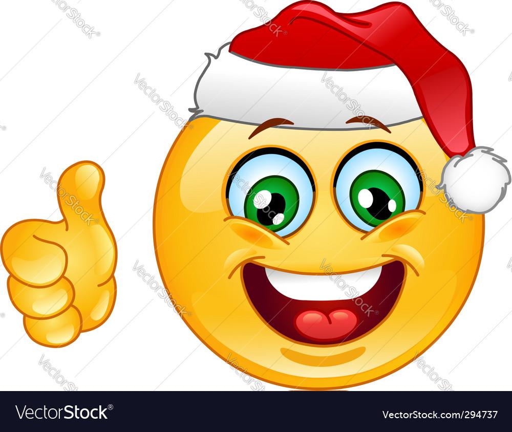 Christmas emoticon vector