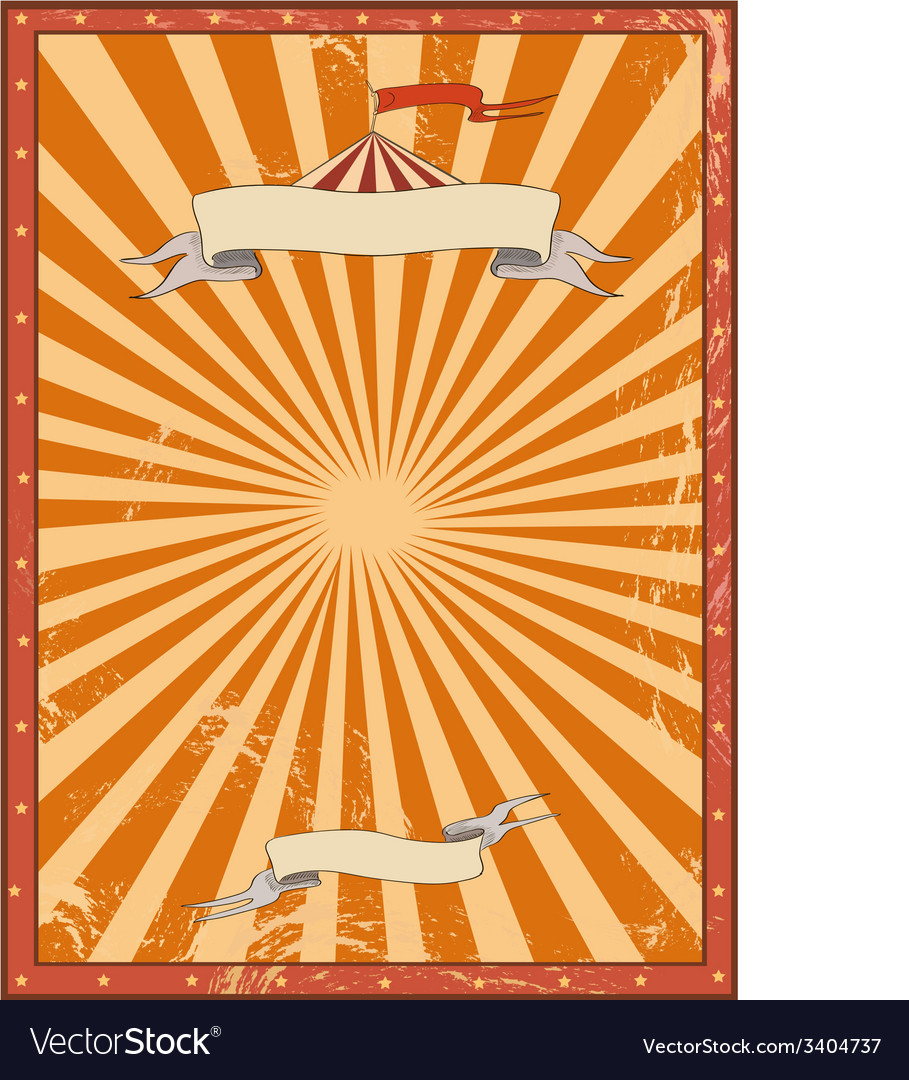 Circus red vintage background for a poster vector