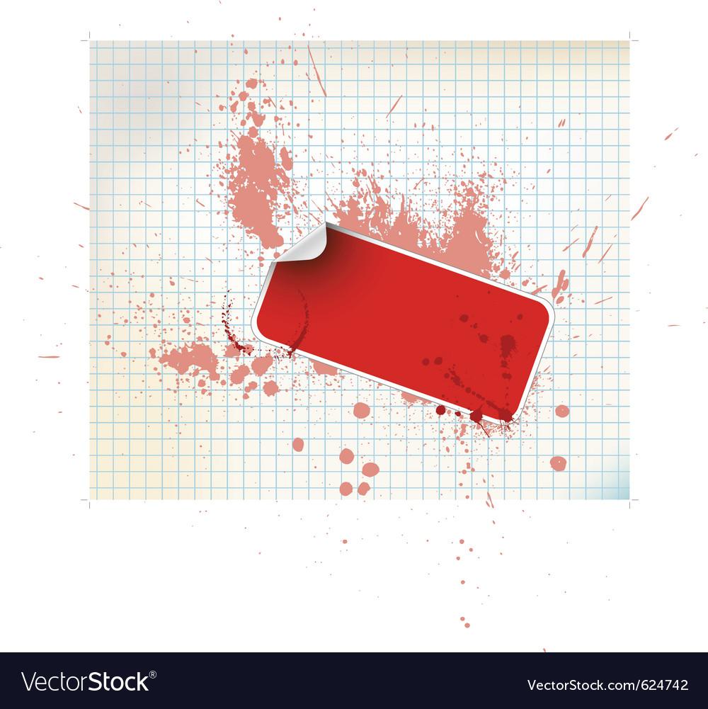Sticker background vector