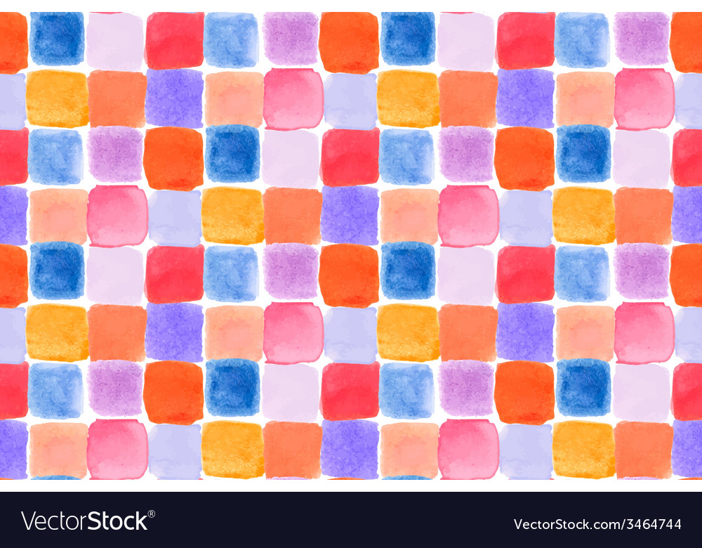 Seamless watercolor pattern vector