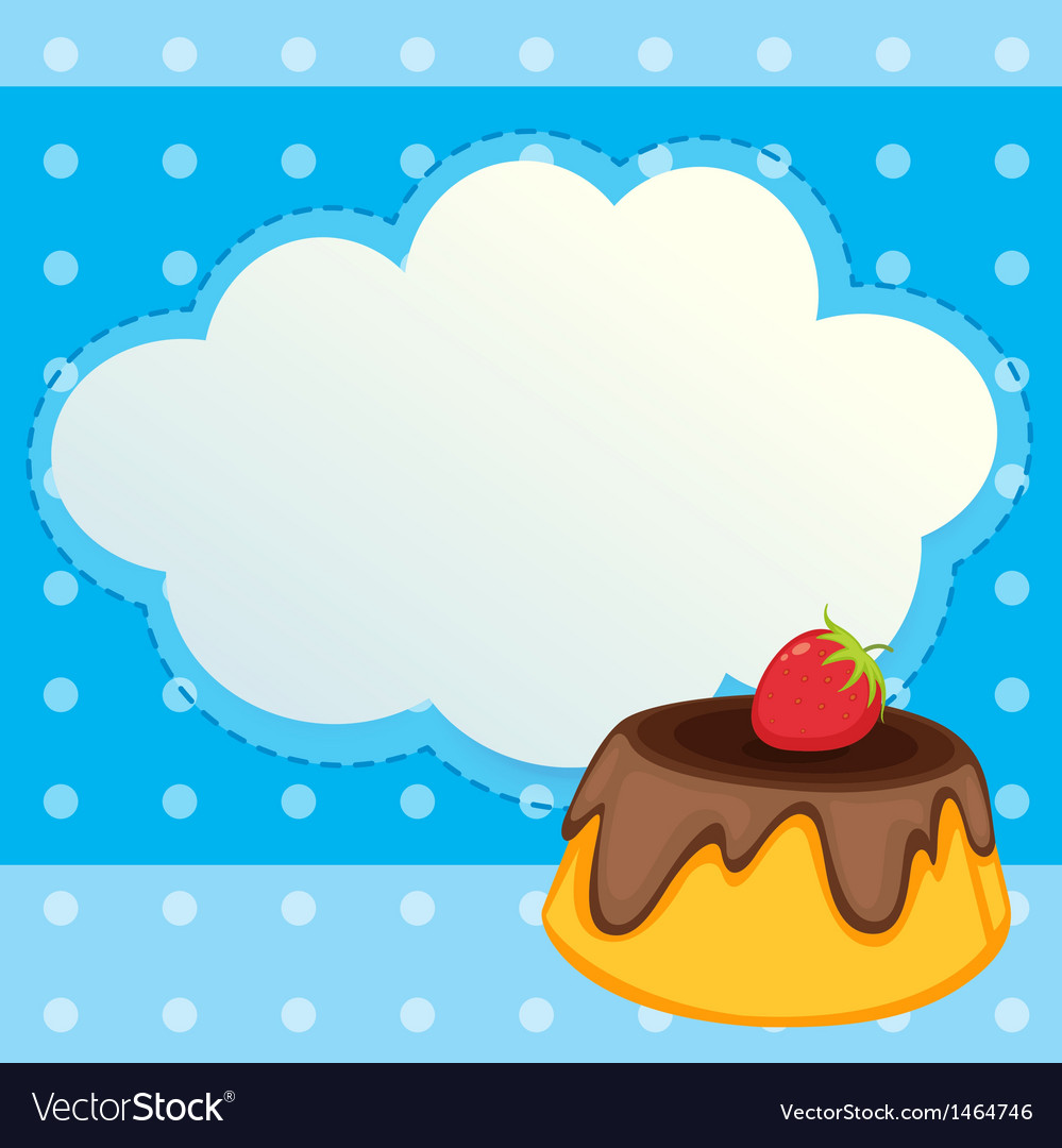 A stationery with a cake with a strawberry topping vector