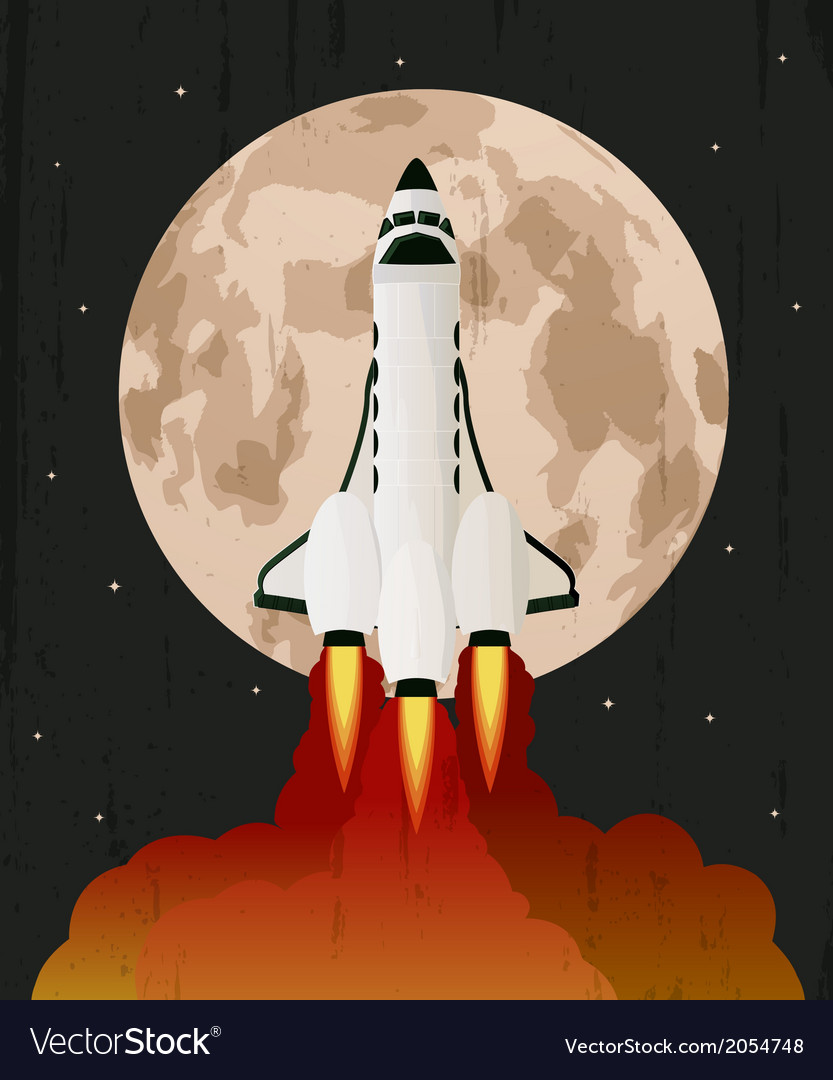 Space shuttle launch vector