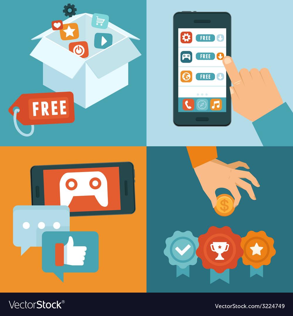 Freemium business model vector