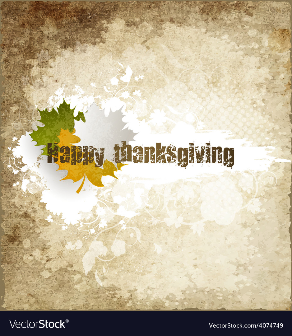 Grunge happy thanksgiving vector