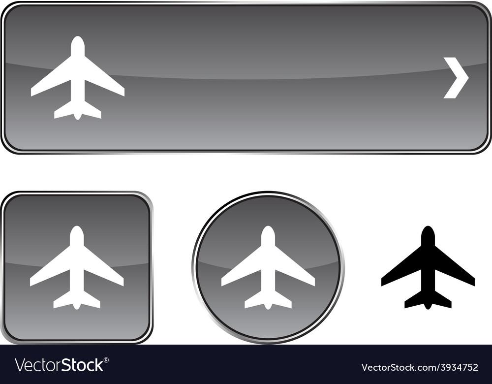 Aircraft button set vector