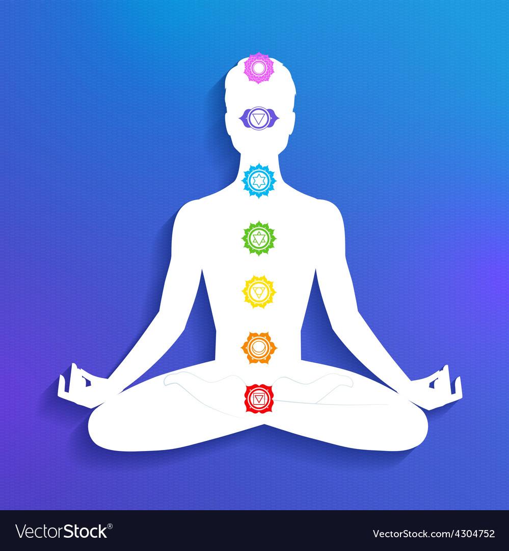 Chakras meditation vector