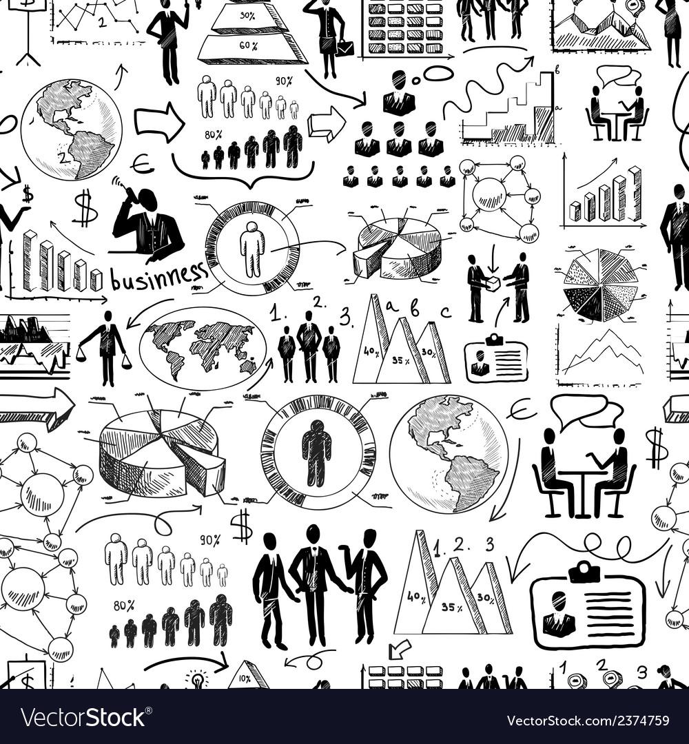 Sketch business seamless vector