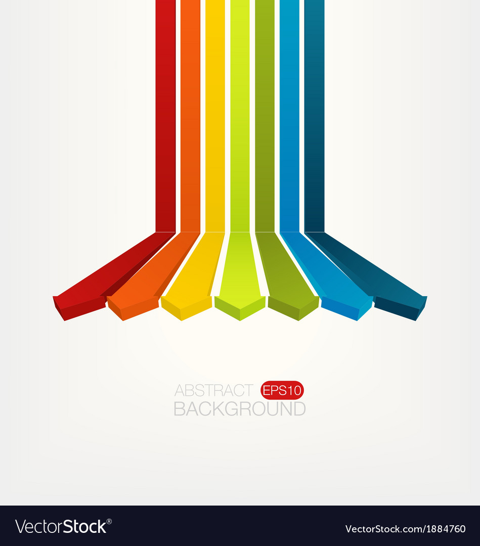 Colorful arrows background vector