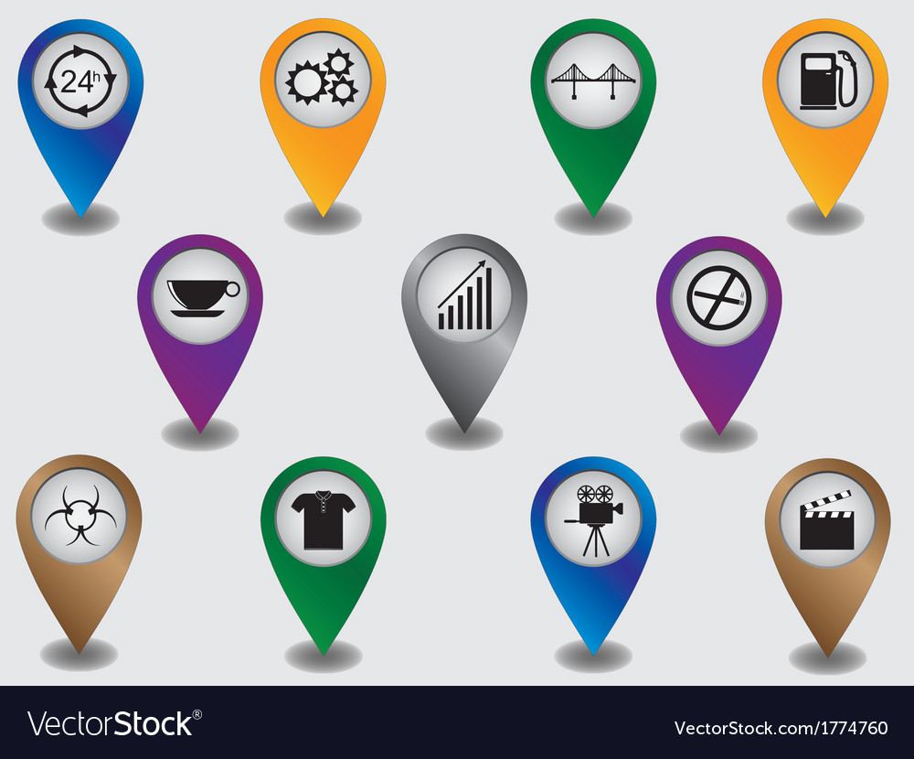 Pointers marking places and objects vector
