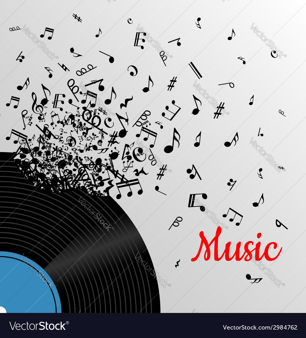 Retro music vintage poster vector
