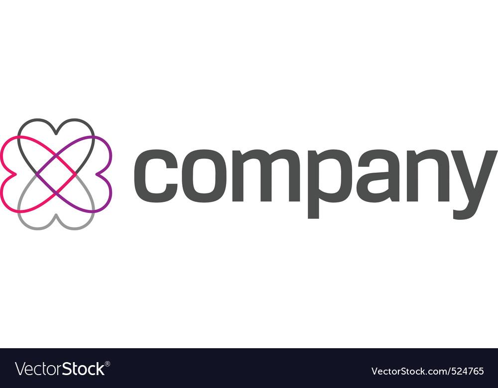 Hearts around for logo vector