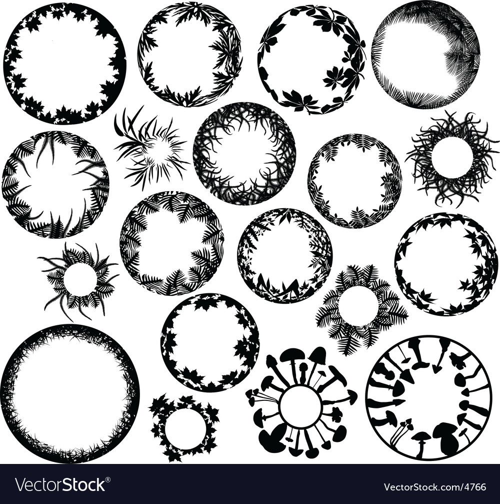 Plant rings vector