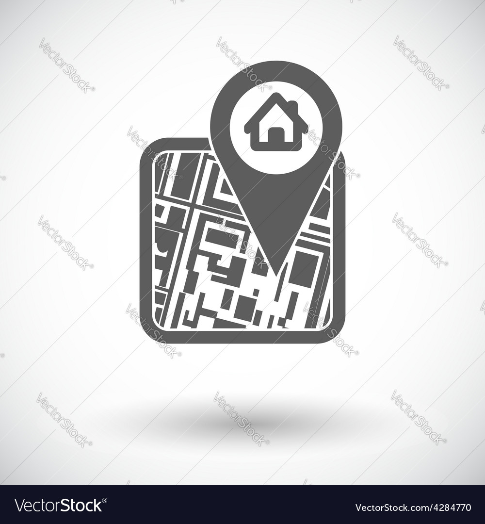 Gps map icon vector