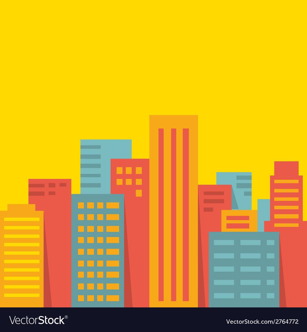 Background big city vector