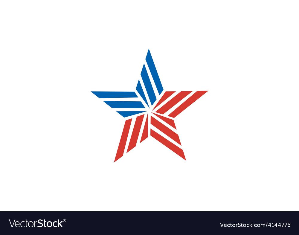Star stripe america logo vector