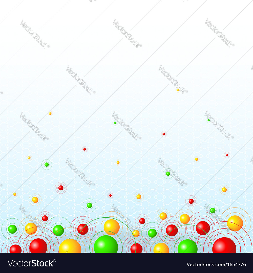 Background with colorful balls vector