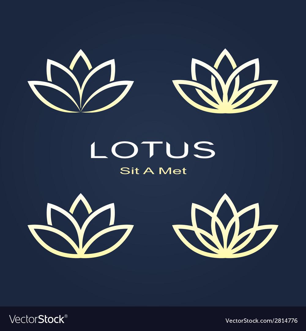 Lotus symbols vector