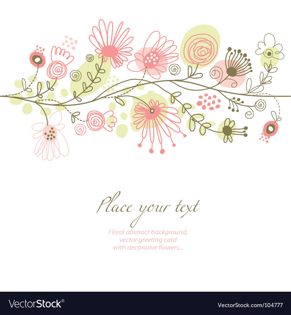 Romantic floral illustration vector