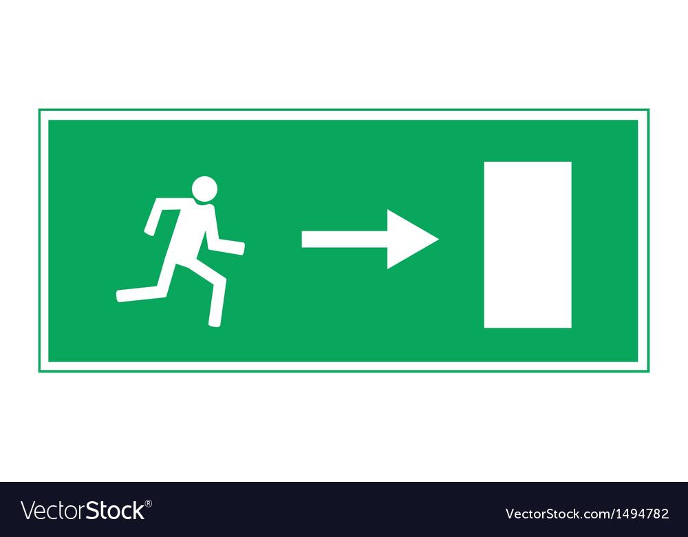Fire exit vector