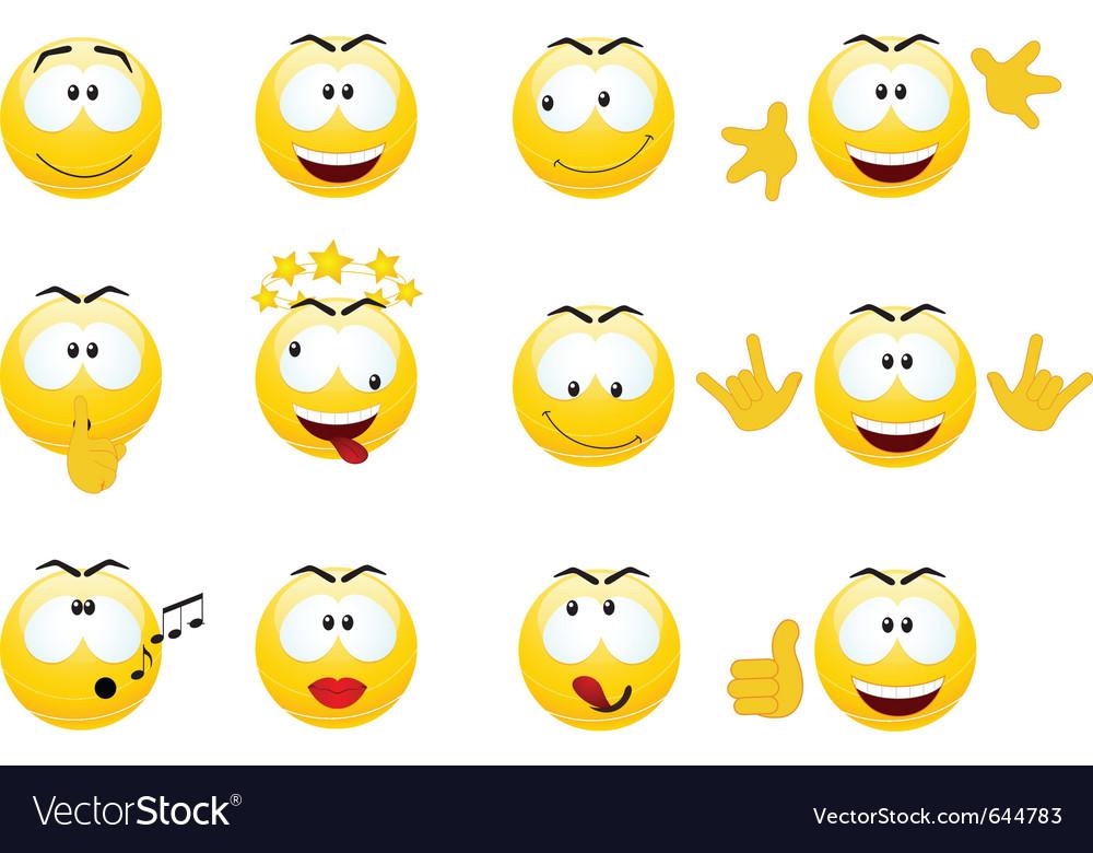 Smiley faces vector