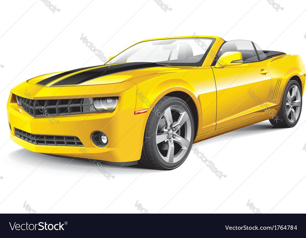 American muscle car convertible vector