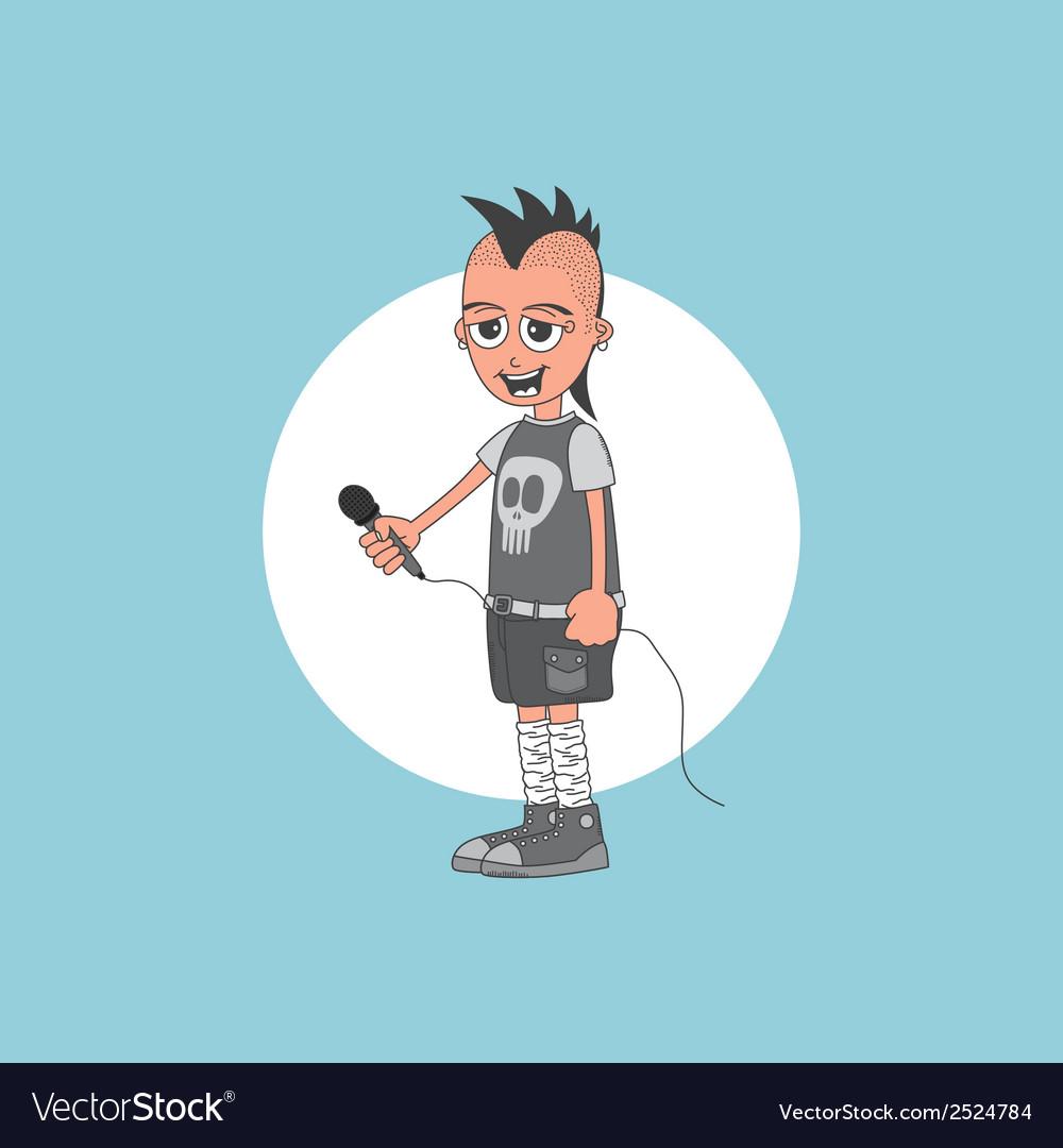 Cartoon musician vector