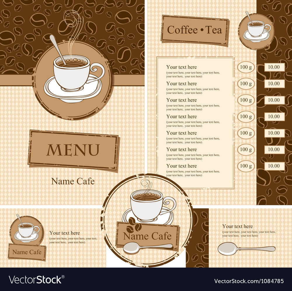 Cafe style vector