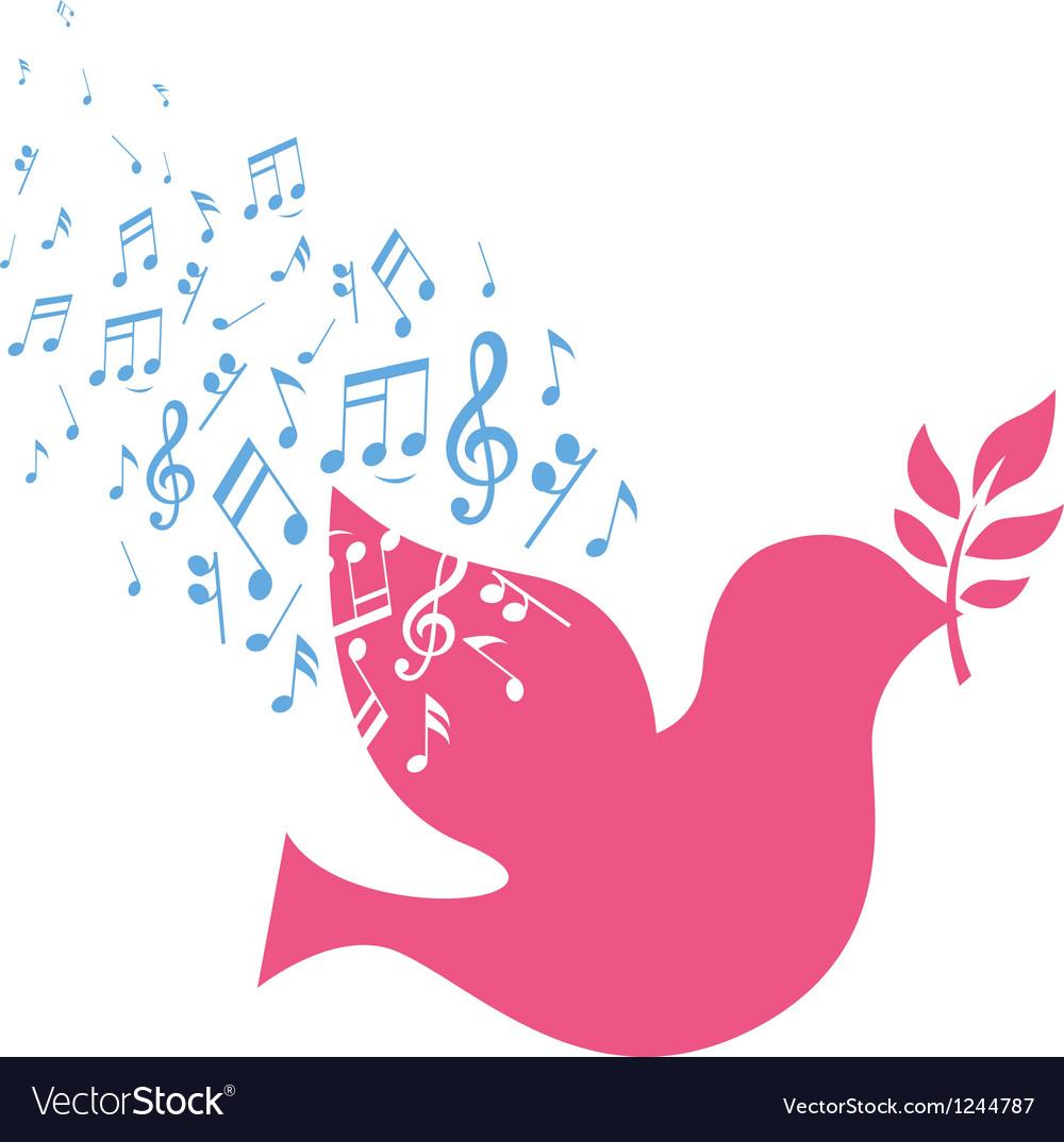 Musical bird vector