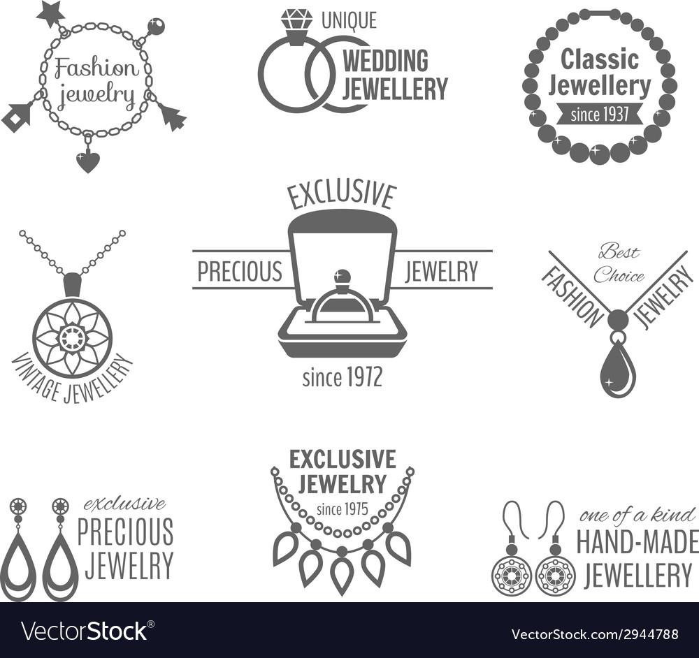 Jewelry label set vector