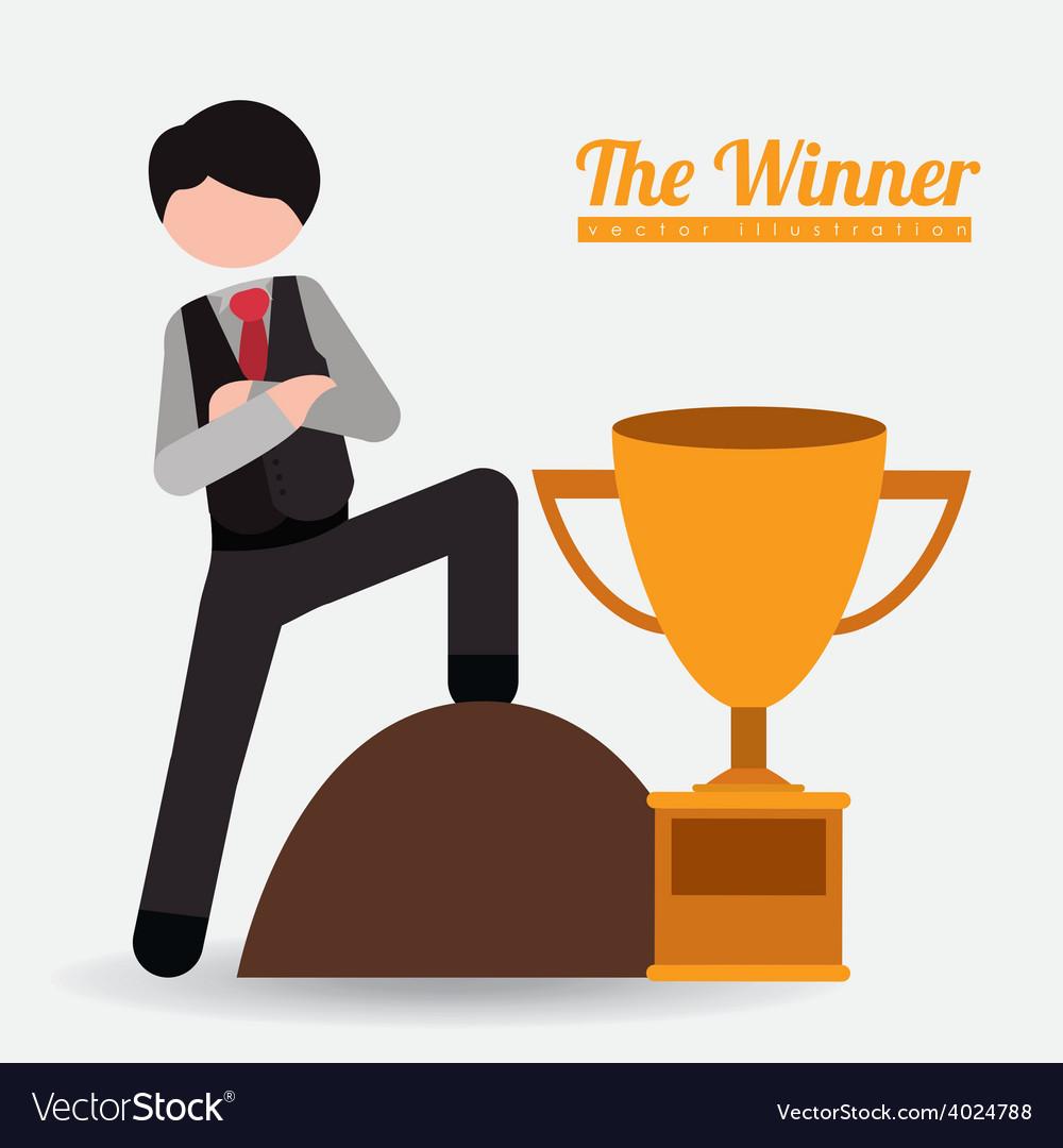 People achievements desing vector