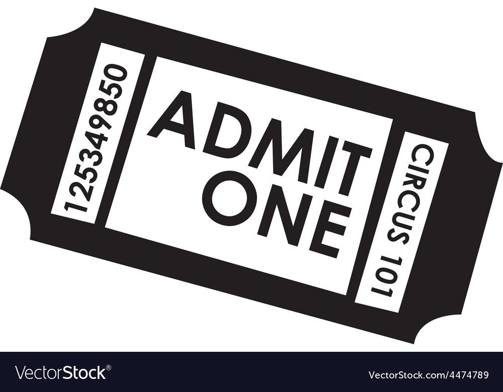 Film ticket vector
