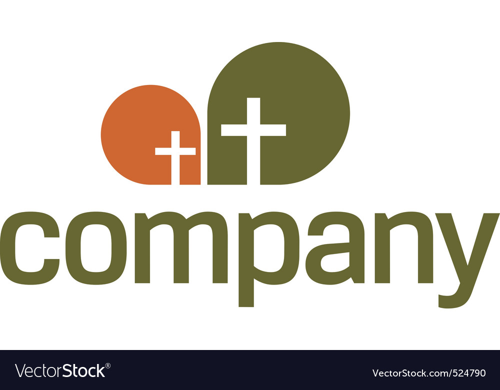 Religion logo  cross symbol vector