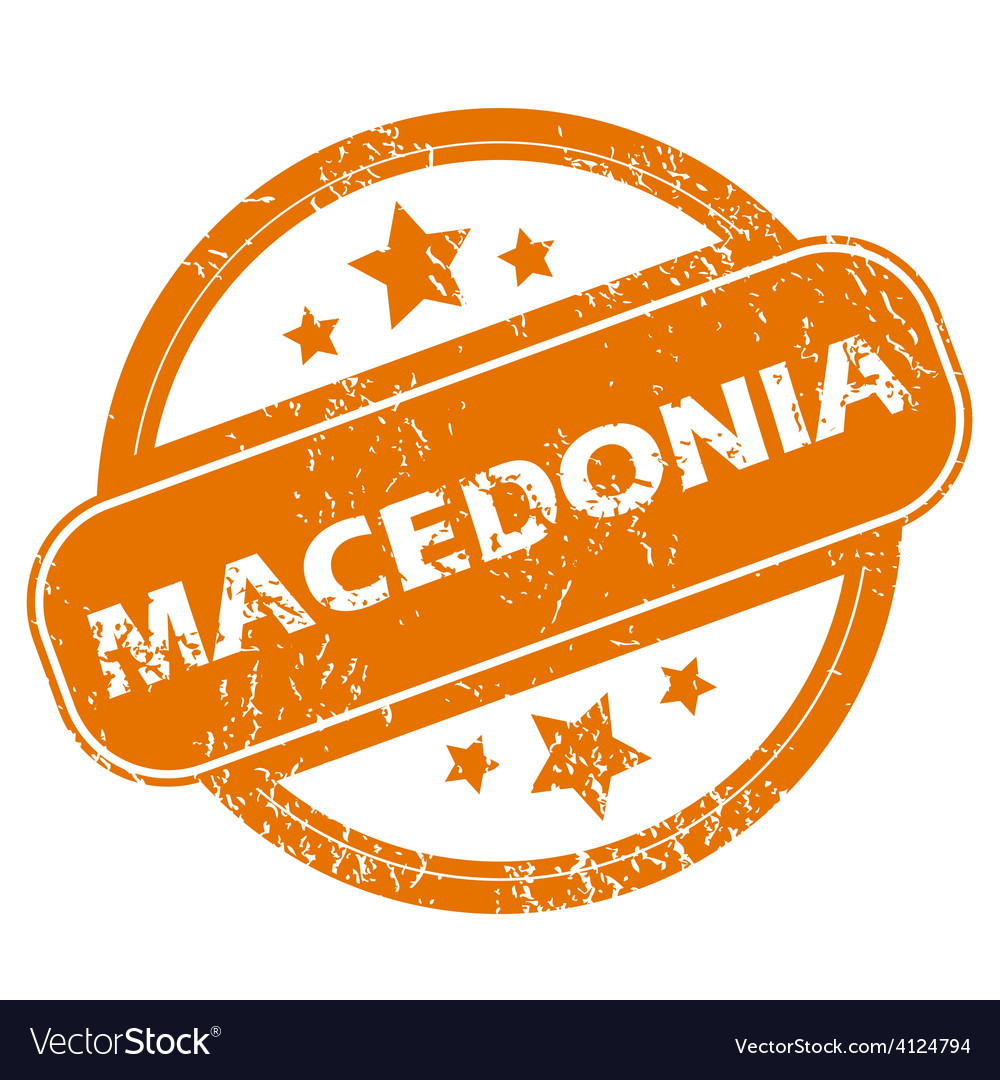 Macedonia grunge icon vector