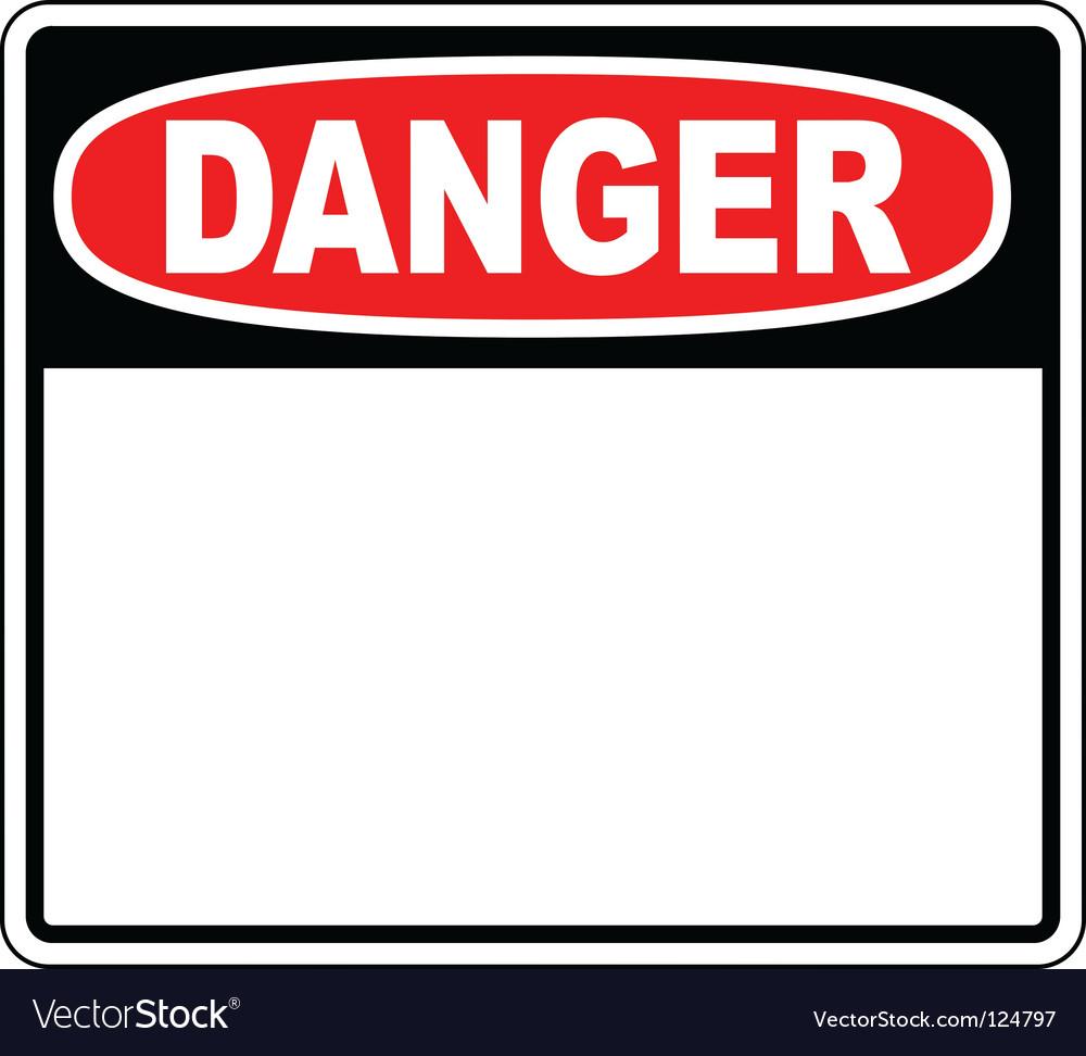 Danger blank sign vector