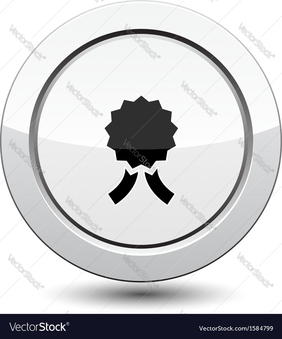 Button with medal vector