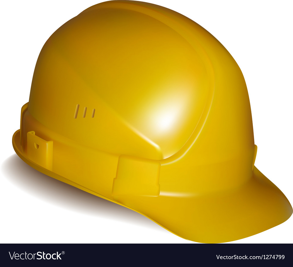 Yellow safety helmet vector