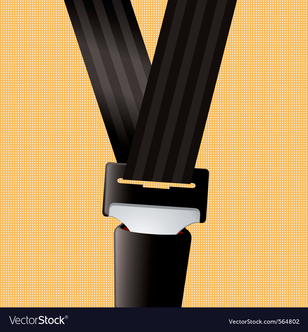 Safety seat belt vector
