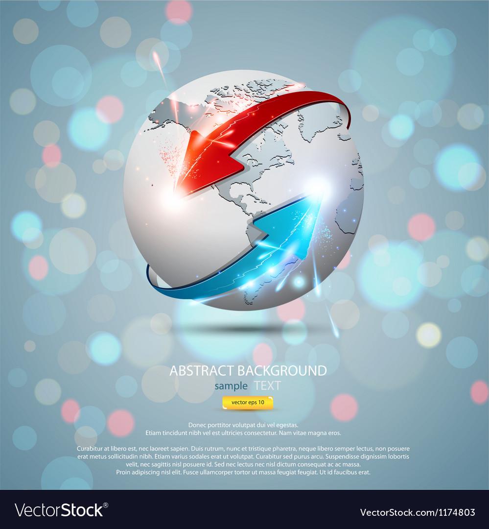 Globe concept 2 vector