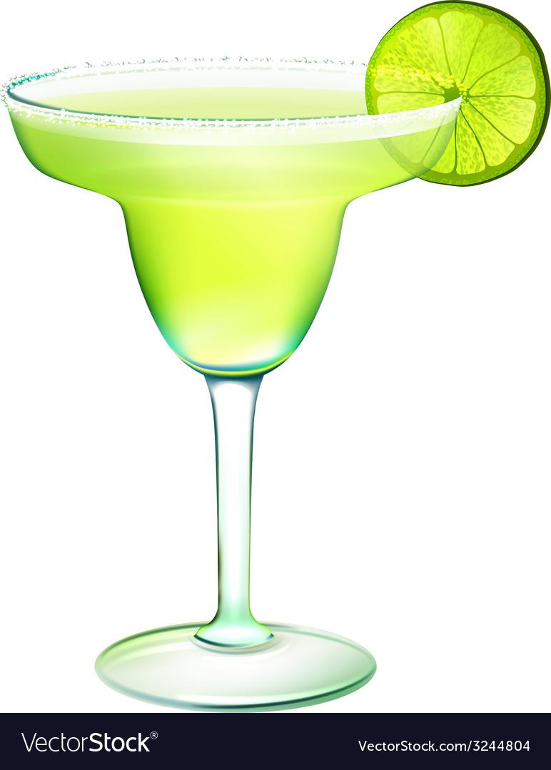 Margarita cocktail realistic vector