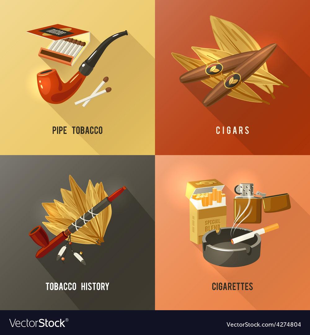 Tobacco design concept vector