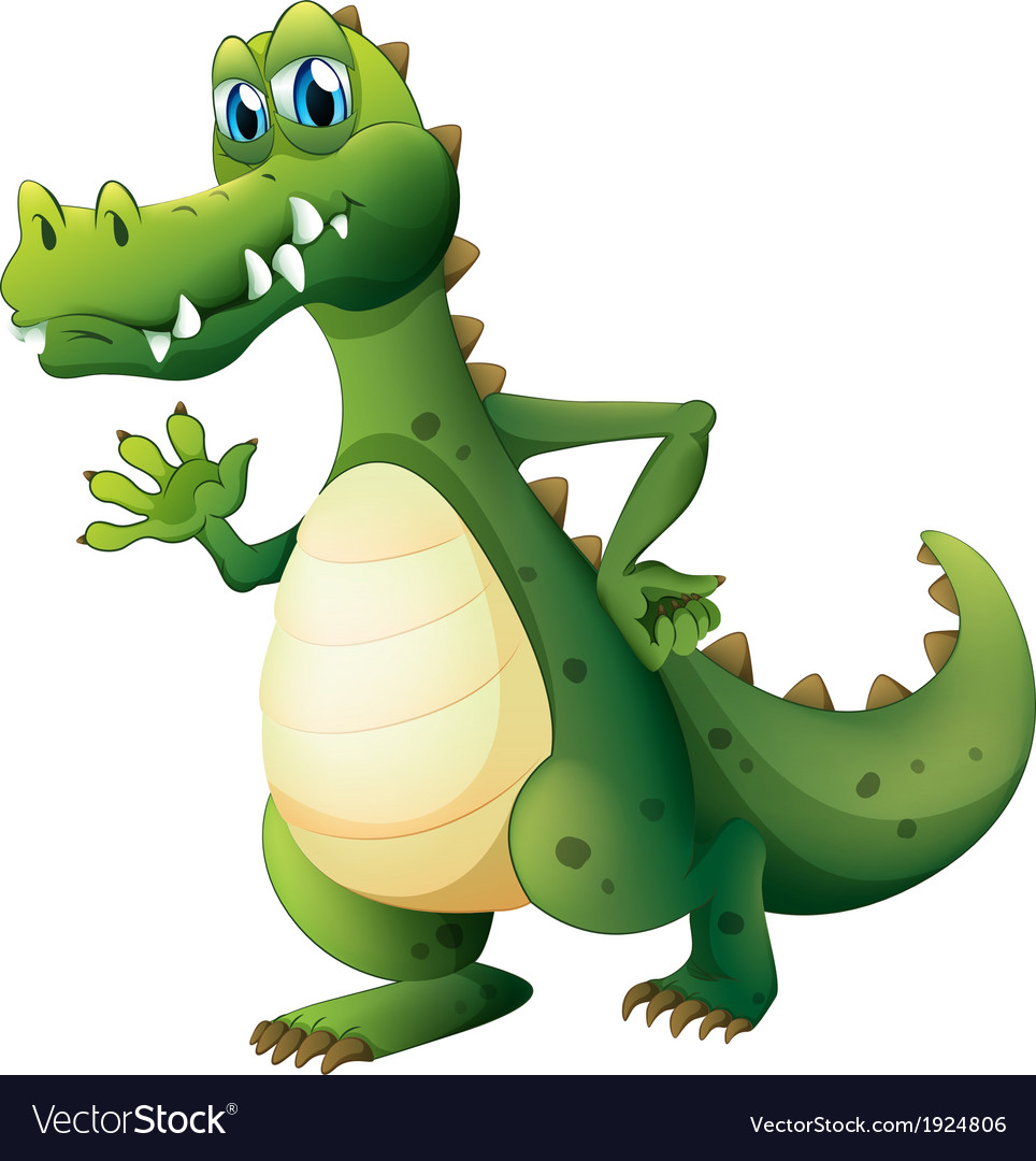 A dangerous crocodile vector
