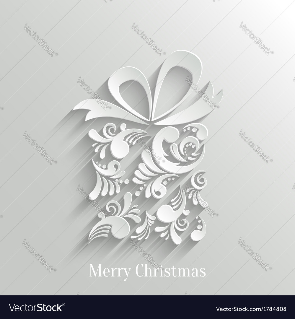 Absrtact floral gift background vector