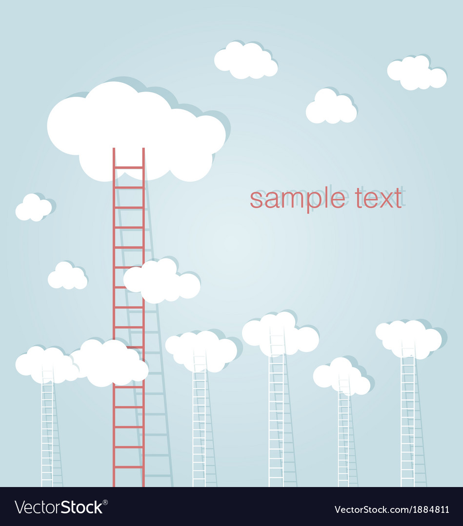 Ladder to success concept background vector