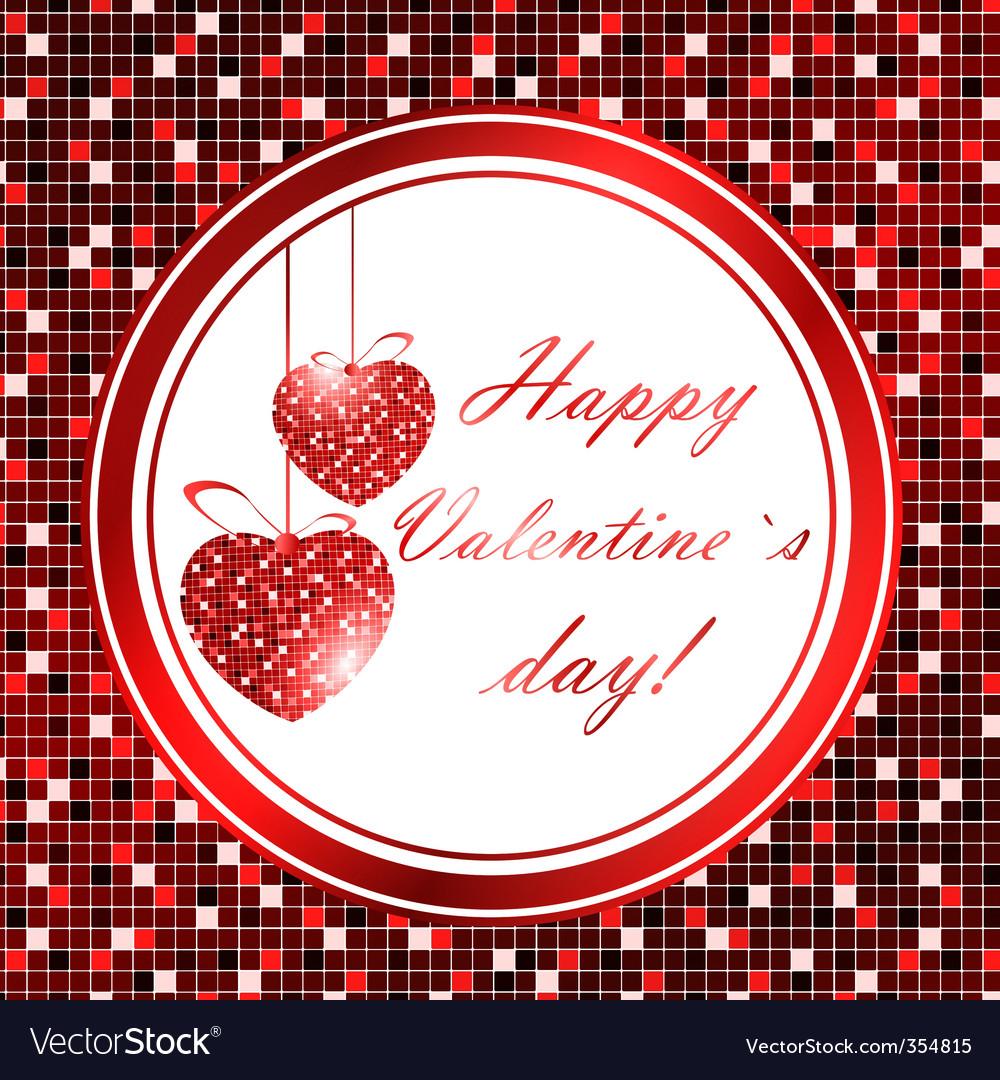 Valentine day frame vector