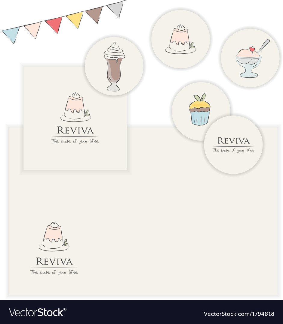 Party graphic elements vector
