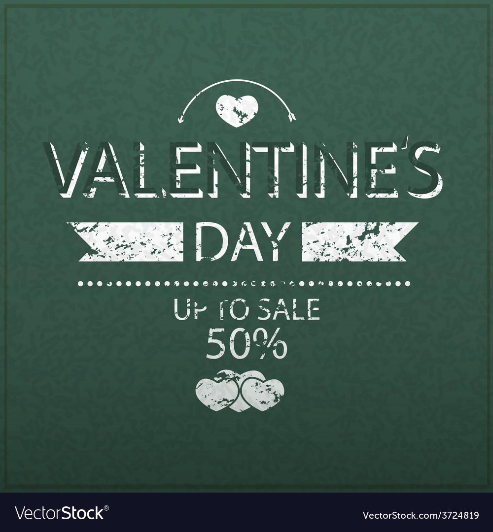 Template valentines day up to sale 50 card vector