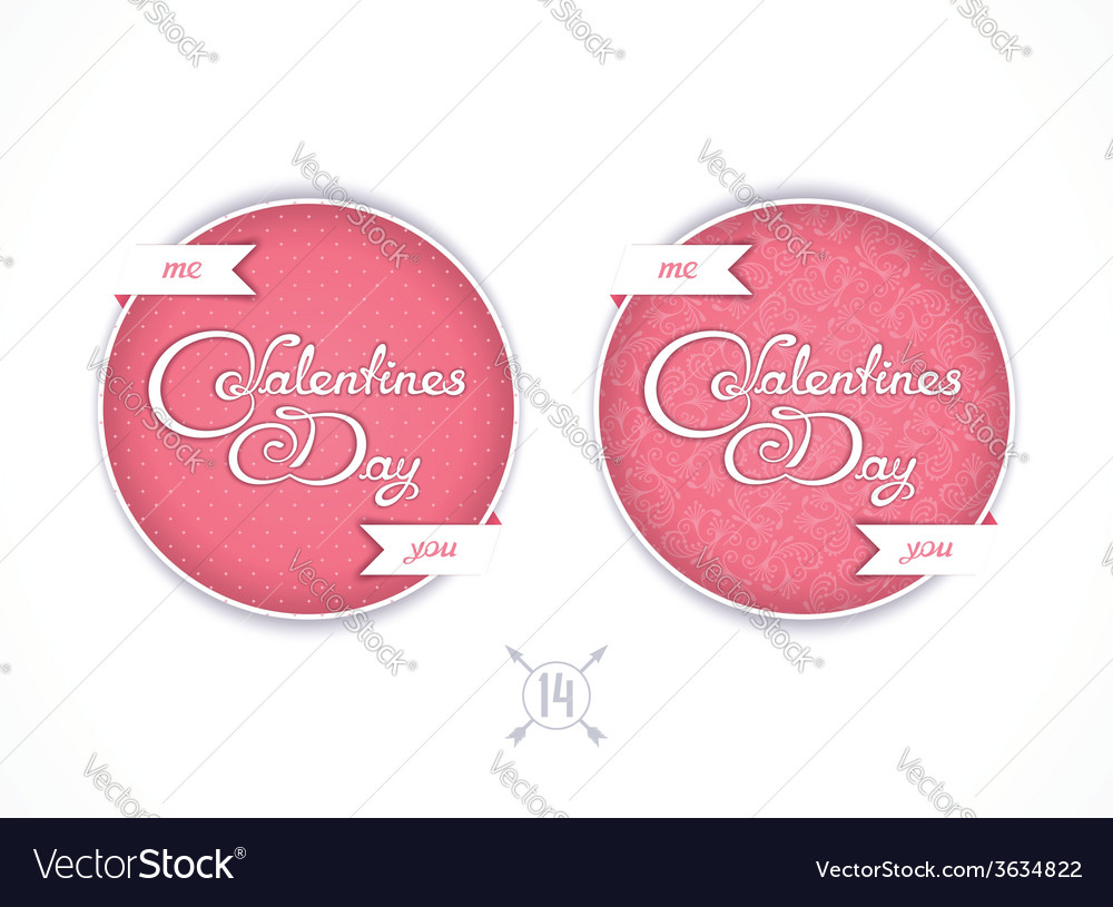 Badge for valentines day vector