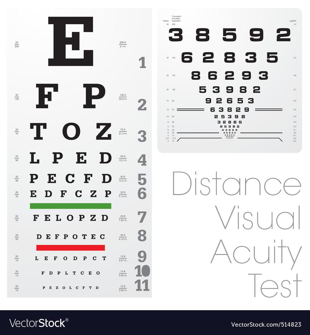 Snellen eye chart vector